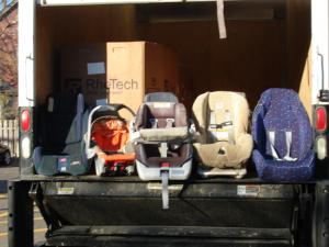 Reciclarea scaunelor auto pentru copii